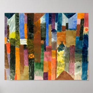 Vor der Stadt: Paul Klee 1915 Poster