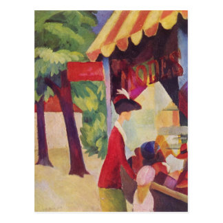 Vor Hutladen durch Macke Postkarte