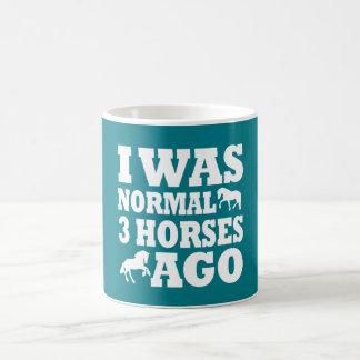 Vor ich war Normal 3 Pferden Kaffeetasse