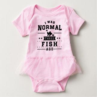 Vor ich war normalem drei Fisch Baby Strampler