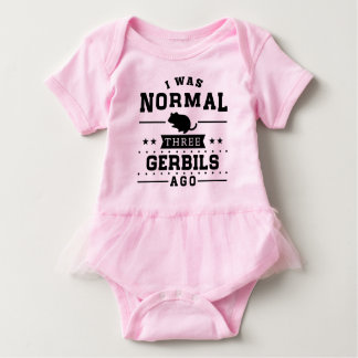 Vor ich war normalen drei Gerbils Baby Strampler
