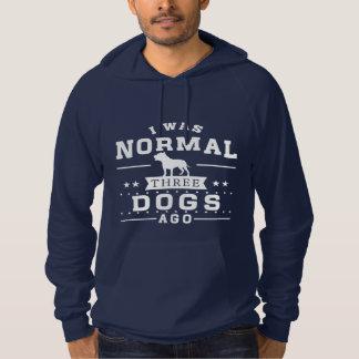 Vor ich war normalen drei Hunden Hoodie