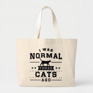 Vor ich war normalen drei Katzen Jumbo Stoffbeutel