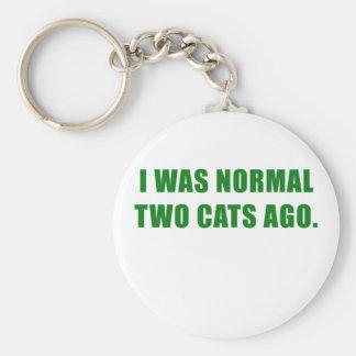 Vor ich war normalen zwei Katzen Schlüsselanhänger