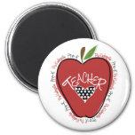 Vor k-Lehrer-Rot Apple Magnets