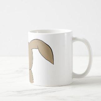 Vor Kaffee-Kaninchen Kaffeetasse