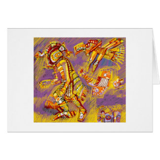 Vor-Kolumbianischer Gott der Vögel Karte