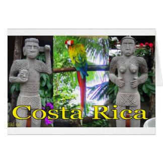 Vor-Kolumbianischer Papagei Costa Ricas Karte