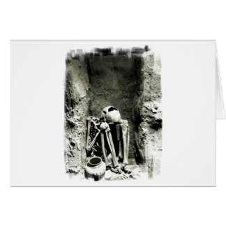 Vor-Kolumbianisches Gravesite Skelett Karte