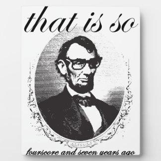 Vor Lincoln, das so achtzig und sieben Jahren ist Fotoplatte