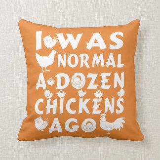 Vor Normal ein Dutzend Hühnern Kissen
