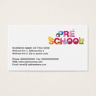 vor Schulwort in den Spaßbuchstaben Visitenkarte
