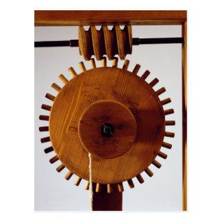 Vorbildliche Rekonstruktion von da Vincis Entwurf Postkarte