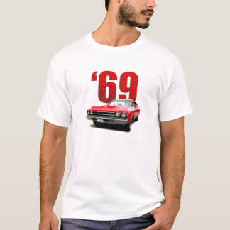 Vorderansicht 1969 Rot Chevelle Coupés T-Shirt