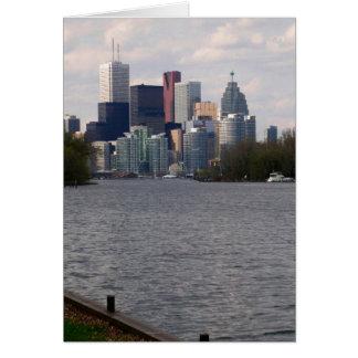 Vorderansicht Toronto-Wassers von der Mitte-Insel Karte