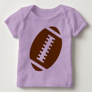 Vordere Fußball-Grafik FUSSBALL-BABY Lavendel-  Baby T-Shirt