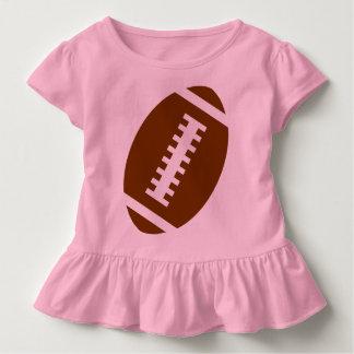 Vordere Fußball-Grafik FUSSBALL-KLEINKIND Rosa-  Kleinkind T-shirt