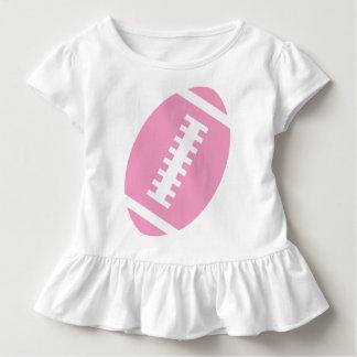 Vorderer rosa Fußball FUSSBALL-KLEINKIND Weiß-  Kleinkind T-shirt
