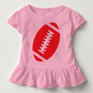 Vorderer roter Fußball FUSSBALL-KLEINKIND Rosa-  Kleinkind T-shirt