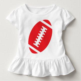 Vorderer roter Fußball FUSSBALL-KLEINKIND Weiß-  Kleinkind T-shirt