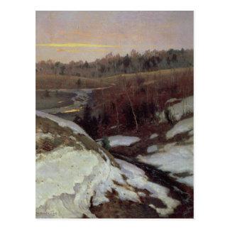 Vorfrühling, 1905 postkarte