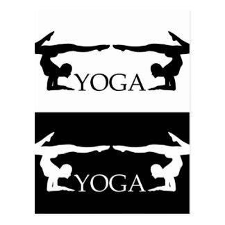 Vorgerücktes Niveau der Yogahaltung Postkarte