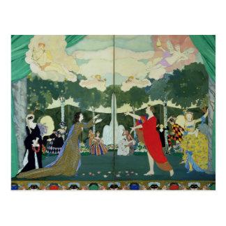 """Vorhang-Entwurf für das """"freie Theater"""" herein Postkarte"""