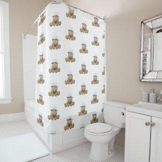 Vorhang für Dusche der Schafe von crochet in beig