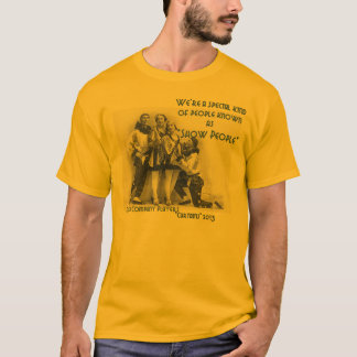 "Vorhang-""Show-Leute-"" grundlegender T - Shirt"