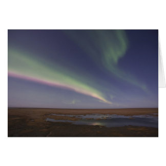 Vorhänge der farbigen Nordlichter Karte