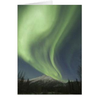 Vorhänge grüner Aurora borealis im Himmel Karte