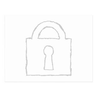 Vorhängeschloß. Streng geheim oder Postkarte
