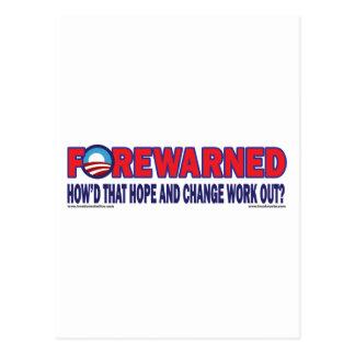 Vorher gewarnt - postkarte