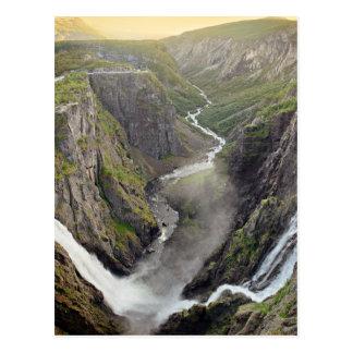 Voringsfossen Wasserfall in Norwegen-Postkarte Postkarte