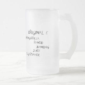 Vorlage 5 Reihe Mattglas Bierglas