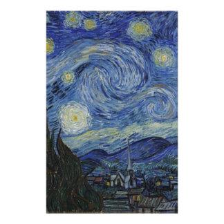 Vorlage die sternenklare Nachtfarbe Briefpapier