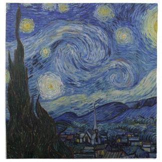 Vorlage die sternenklare Nachtfarbe Stoffserviette