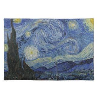 Vorlage die sternenklare Nachtfarbe Stofftischset