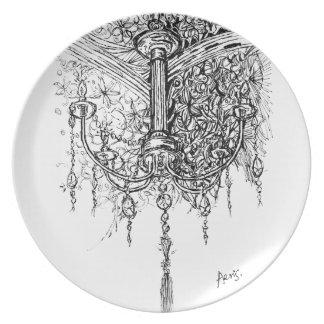 Vorlage erhellen Ihren Leben-Klassiker-Leuchter Flacher Teller