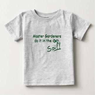 Vorlagengärtner tun es im Boden Baby T-shirt