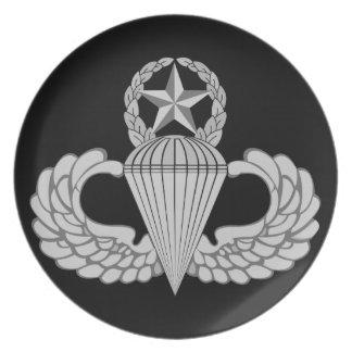 Vorlagensprungs-/Parachutist-Flügel Melaminteller
