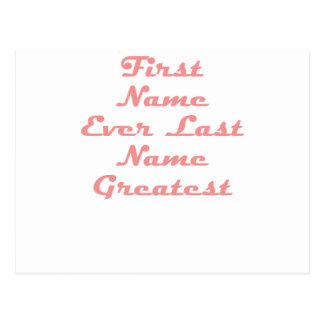 Vorname-überhaupt letzter Name am beststen Postkarte