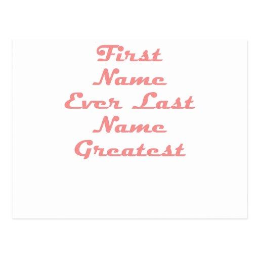Vorname-überhaupt letzter Name am beststen Postkarten