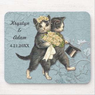 Vornehme Katzen, die Blau Wedding sind Mousepad