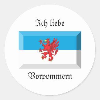 Vorpommern Flaggen-Edelstein Aufkleber