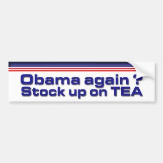 Vorrat oben auf Tee Autoaufkleber