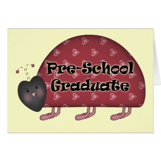 Vorschule-Abschluss-Geschenke Karte
