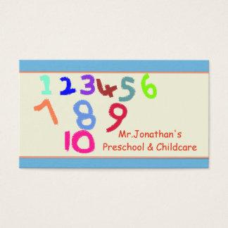 Vorschule und Kinderbetreuungs-Visitenkarte Visitenkarte