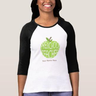 Vorschullehrer-Shirt - grüner Apple