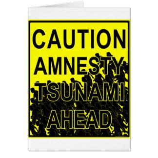 Vorsicht-Amnestie-Tsunami voran Karte
